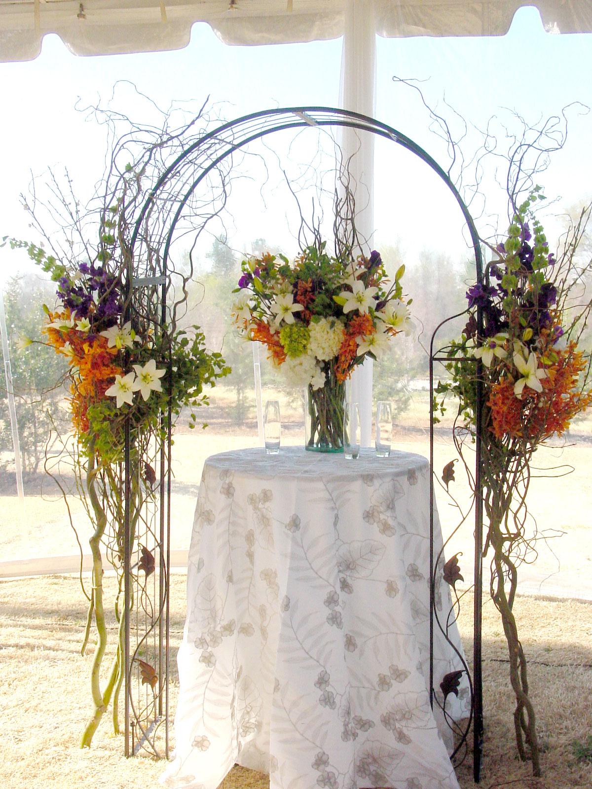 Funky Orange And Lime Green Wedding Decor Adornment - The Wedding ...