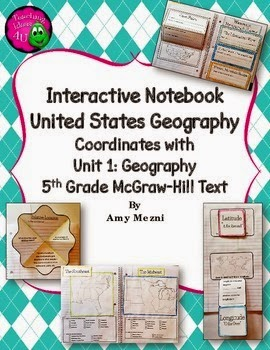 http://www.teacherspayteachers.com/Product/Interactive-Notebook-United-States-Geography-5th-Grade-Coordinates-w-McGrawHill-1356595