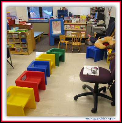Preschool Classroom SetUP (Classroom Decor RoundUP at RainbowsWithinReach)