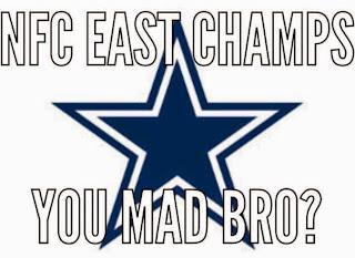 nfc east champs. you mad bro?
