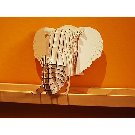Cabeza de elefante de cart n un trofeo ecol gico el regalo original - Cabeza ciervo carton ...