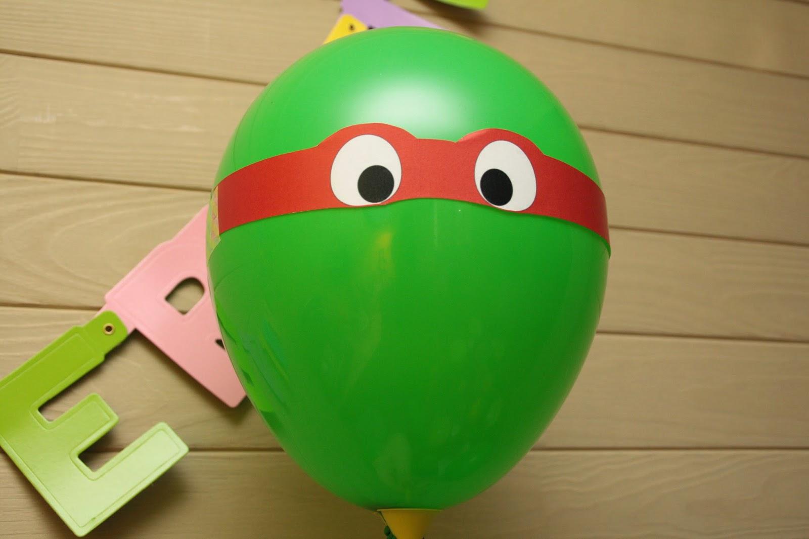 ballon fête tortue ninja