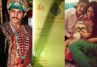 Undangan pernikahan Rajat Tokas 'Jodha Akbar' dengan Srishti Navar yang bocor di Dumay