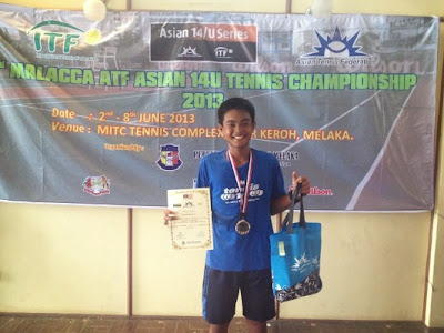 Jan Godfrey Seno - Malacca ATF 14U Tennis Champion
