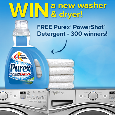 NEW Purex® PowerShot™ Detergent Sweepstakes! Click on image to enter!