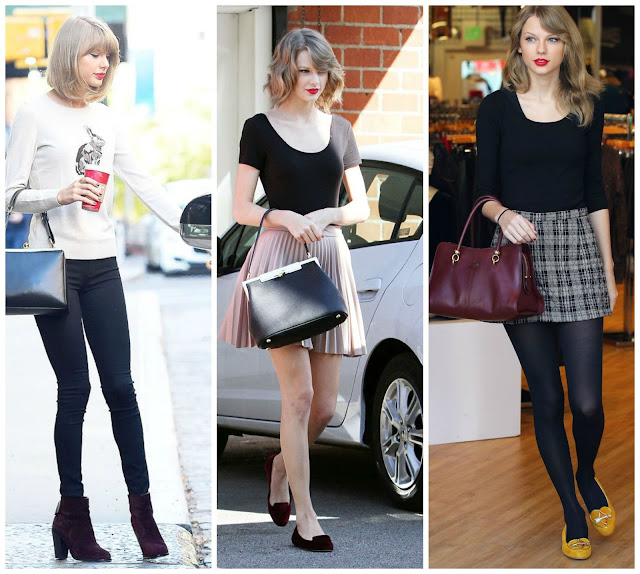 Taylor Swift em looks casuais.
