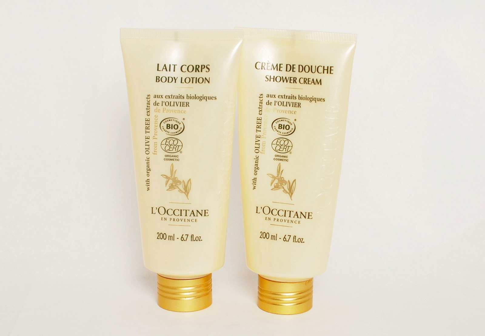 L'Occitane Shower Cream and Body Wash with Organic Olive