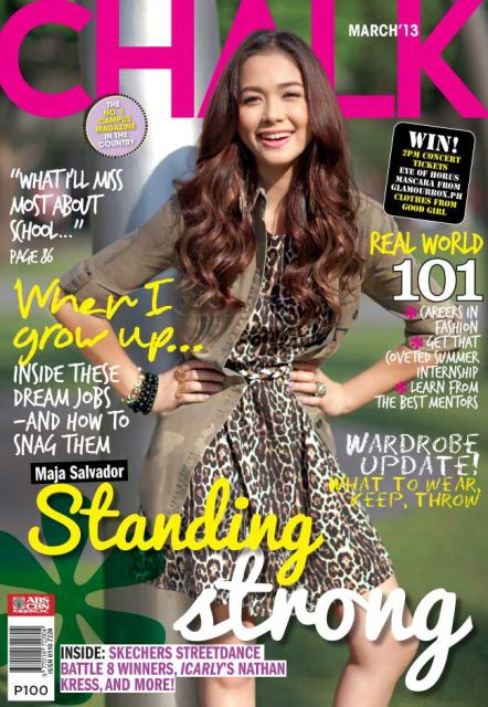 Maja Salvador Covers Chalk Magazine March 2013