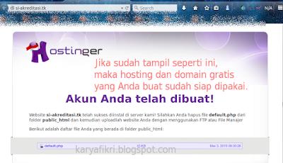 18 Buka domain yang didaftarkan untuk mengecek apakah sudah aktif (karyafikri.blogspot.com)