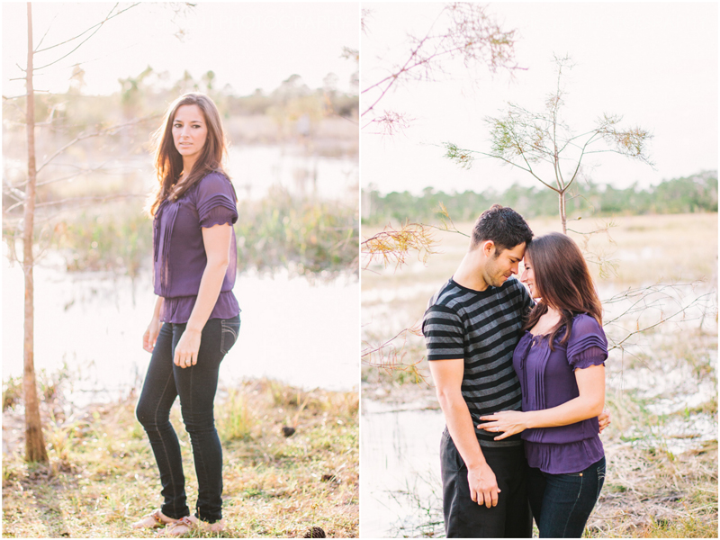 grassy waters nature preserve engagement photography