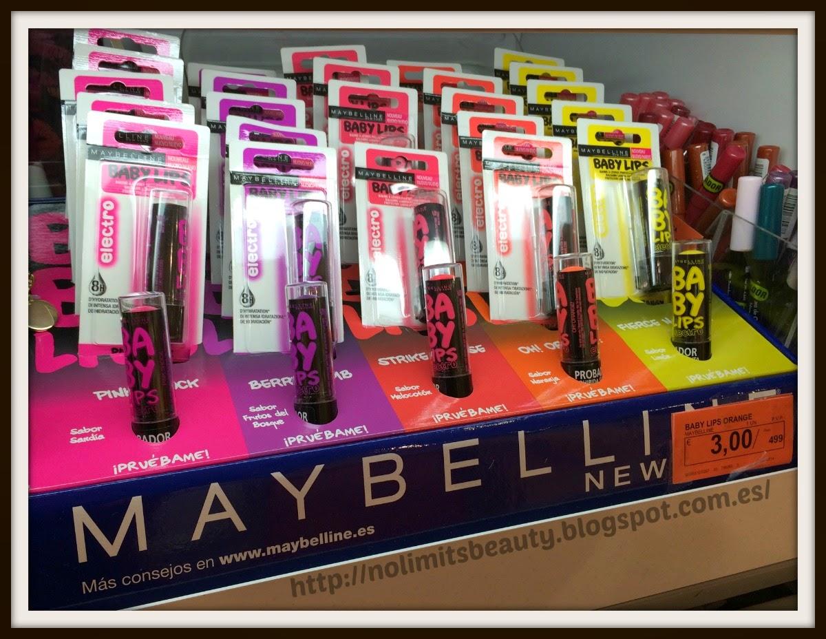 Nuevos Electro Baby Lips de Maybelline en Mercadona
