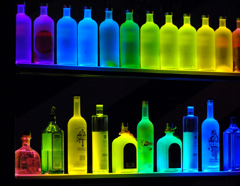 Lighted Liquor Shelves Display