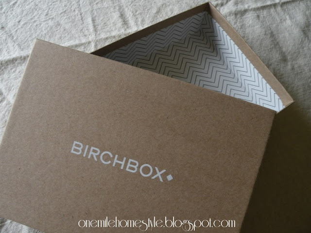 Empty Birchbox - chevron interior