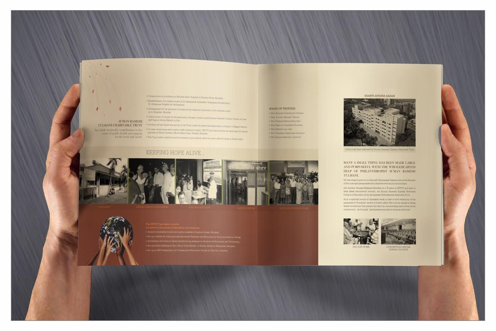 designs blossoms brochure and presentation for srttc a vi