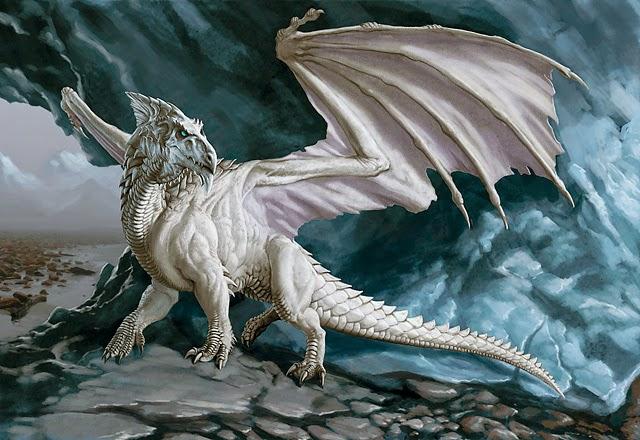 dragon blanco imperioso y altivo