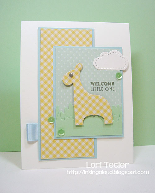 Welcome Little One-designed by Lori Tecler/Inking Aloud-stamps and dies from Clear and Simple Stamps