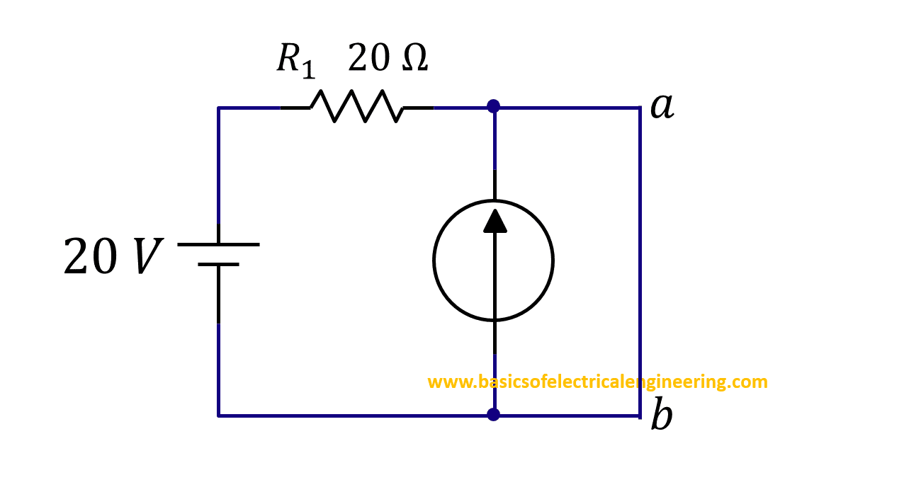 Norton Theorem Basics Of Electrical Engineering Shortcircuit Calculation Example Step 3 To Short Circuit Terminals