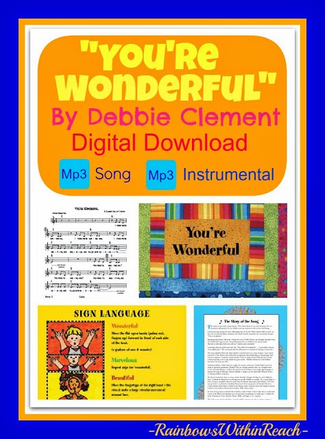 """You're Wonderful"" Zipped File with 2 Mp3s: sung and instrumental"