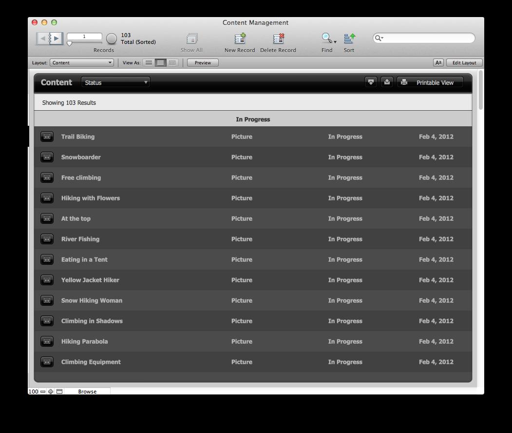 The Mac Office Content Management FileMaker Pro Starter Solution - Filemaker pro templates