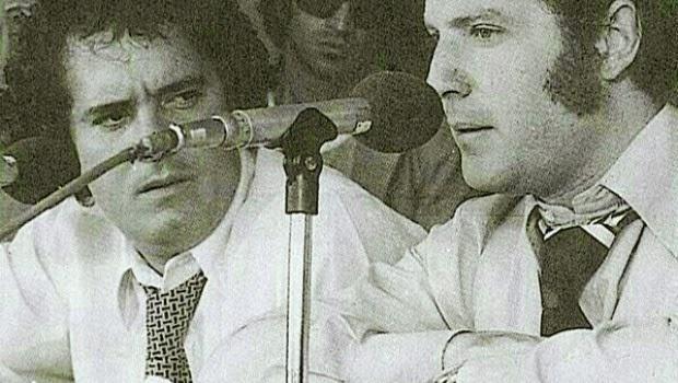 José Ramón Fernández y Raúl Orvañanos cuando todavía eran amigos. Ahora estarán juntos en el Comex Master 2014, donde los canales deportivos de ESPN y Fox Sports unirán fuerzas para transmitir la Copa Mundial de la FIFA Brasil 2014   Ximinia