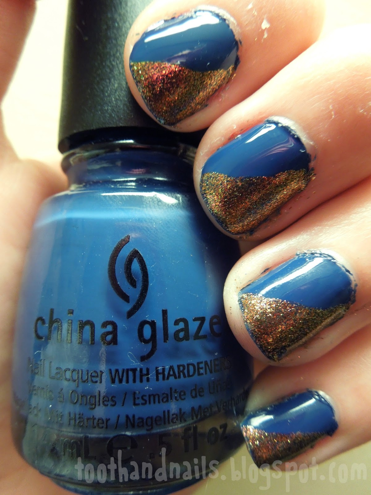 Tooth and Nails: Navy and Copper Split