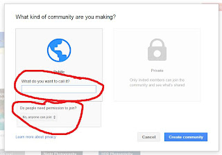Naming and permission to join G+ community