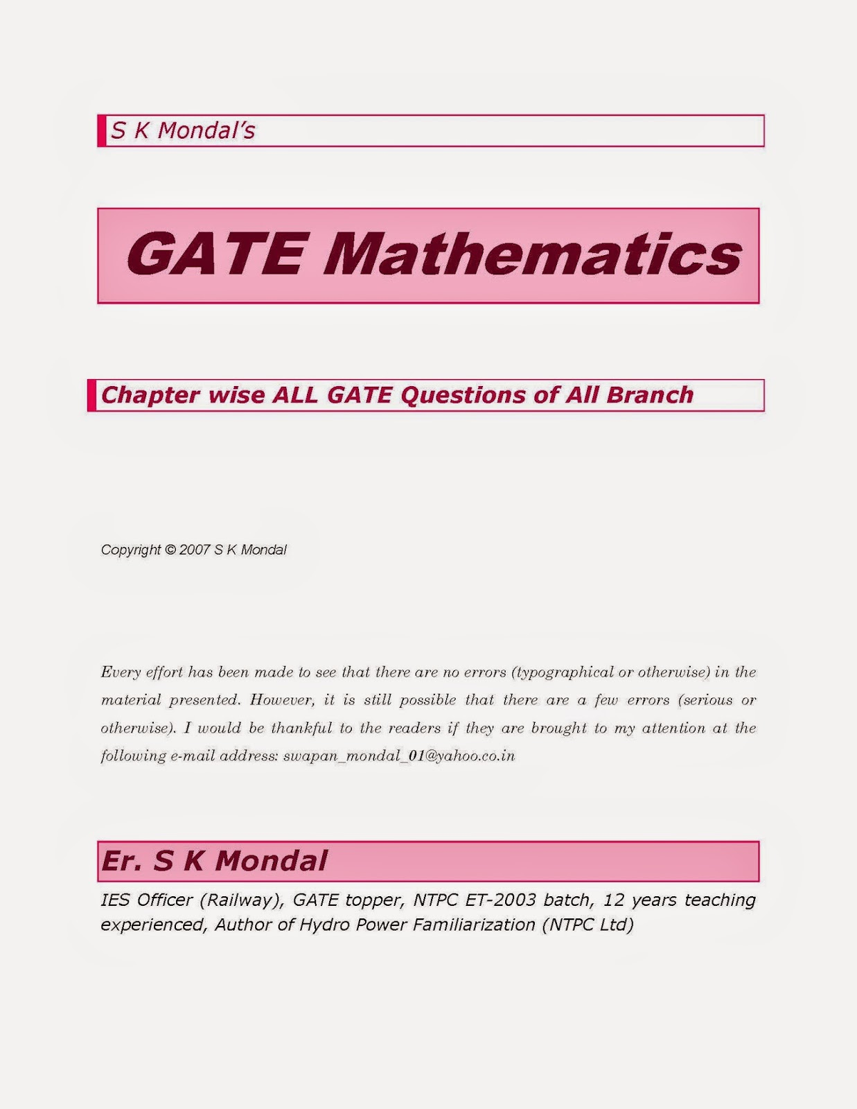 GATE Maths All Branch Questions with Answers ~ FREE CIVIL ...