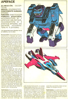 Apeface (ficha transformers)