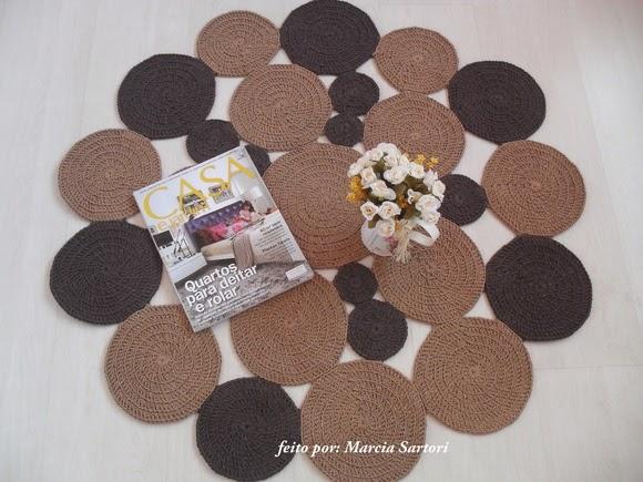 Marcia sartori crochetando novos trabalhos - Tapete baby ...
