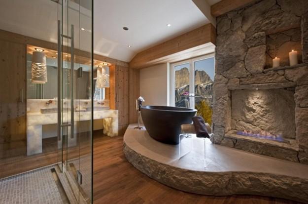 Baño Rustico Moderno:Una opción magnífica para lograr un baño rústico muy original, es