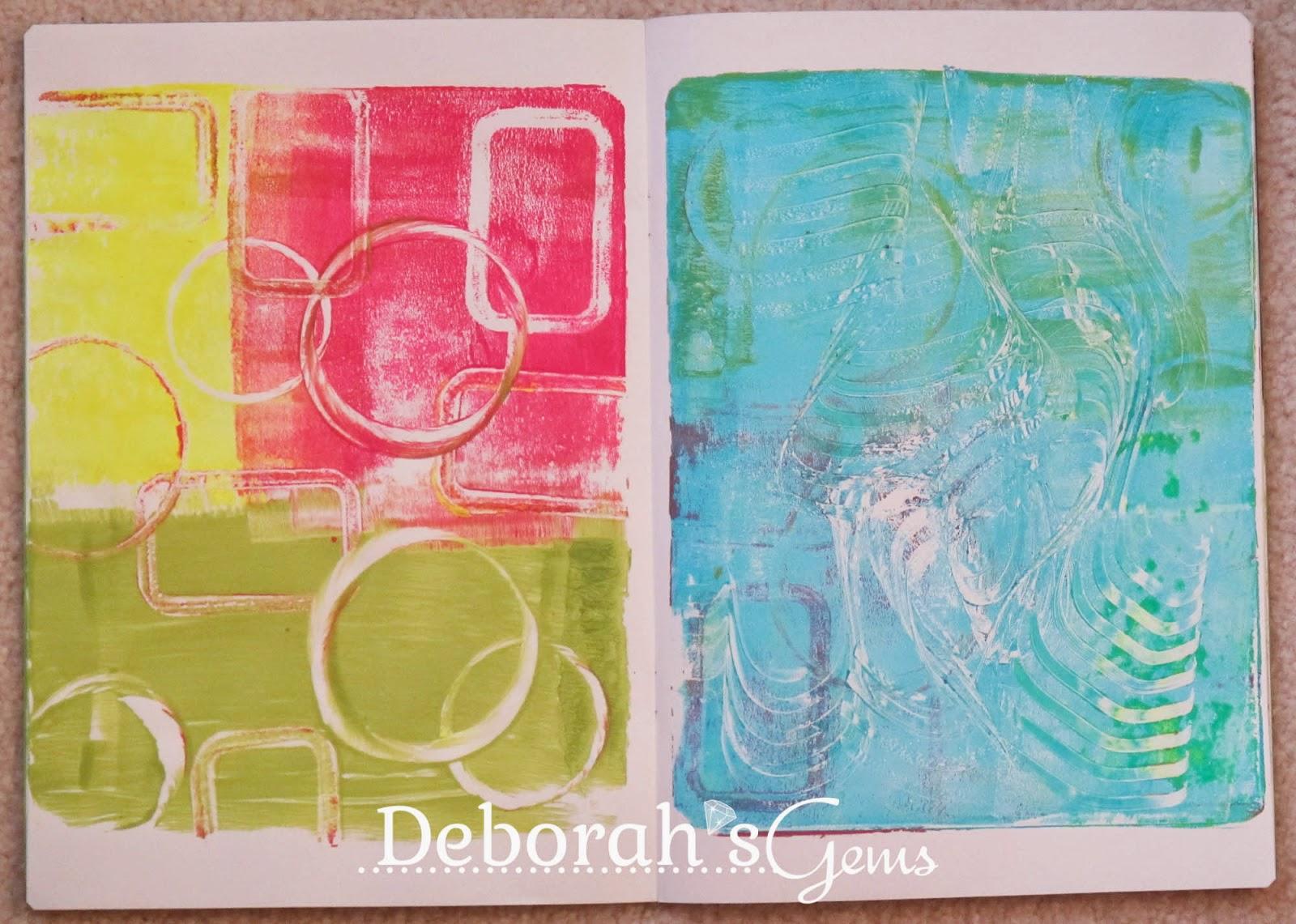 Gelli Journal 2 - photo by Deborah Frings - Deborah's Gems