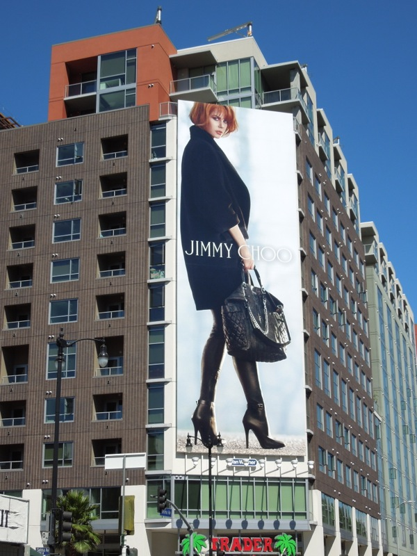 Giant Nicole Kidman Jimmy Choo Fall 13 billboard