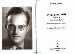 Trad. Rainer BIEMEL / Cuvânt înainte Walter BIEMEL / Prefaţă Monica LOVINESCU
