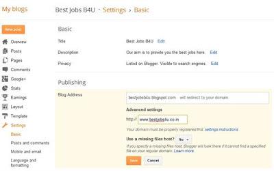 Error 12 lỗi domain Blogger