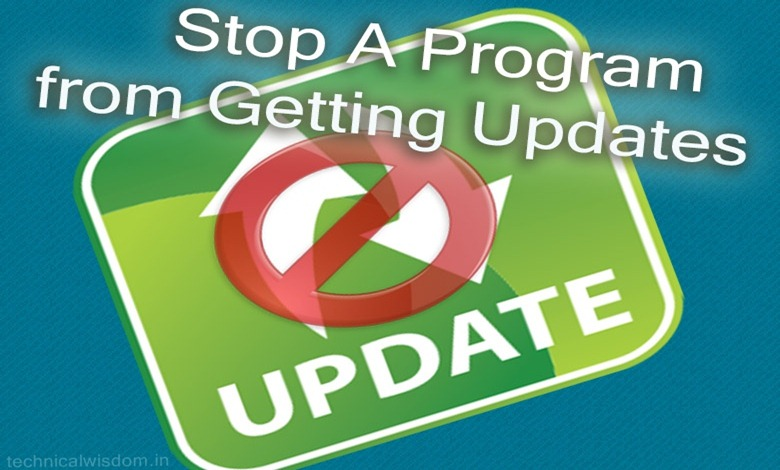 stop a program from updating