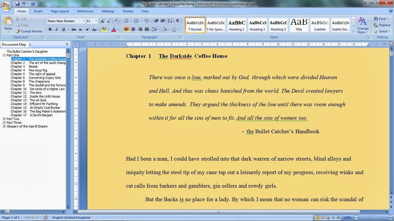 Document Map as a novel writing tool