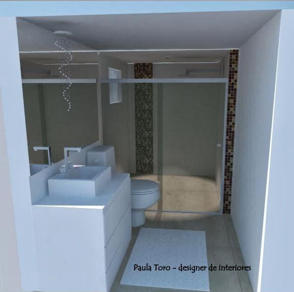 Paula ToroDecor 230314  300314 -> Banheiro Reformado Com Pastilha