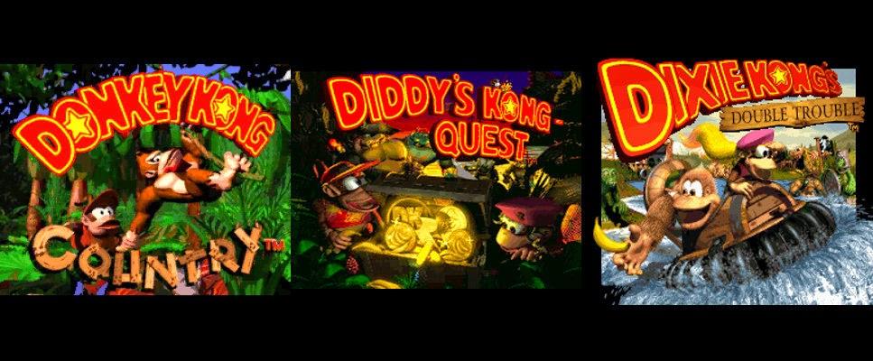 Resultado de imagen para donkey kong trilogia de Snes