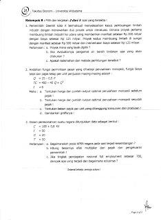 Uas Ekonomi Publik Tahun 2011 2012 Kumpulan Soal Ujian