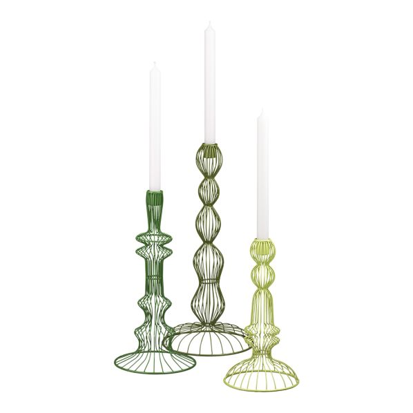 wire taper candle holders