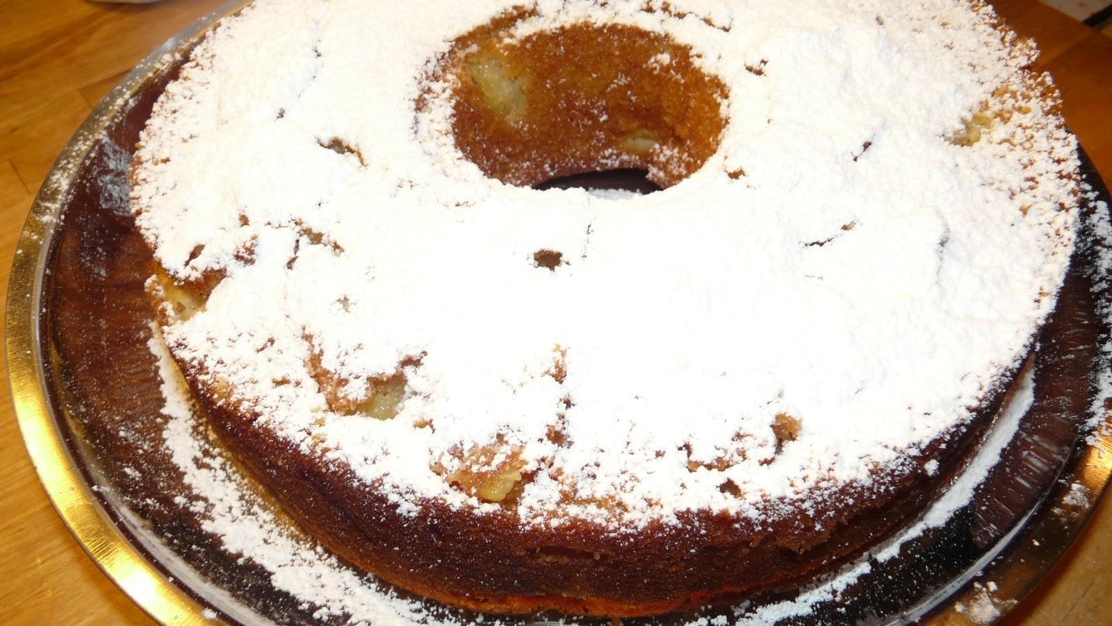 Cake aux pommes & eau de fleurs d'oranger