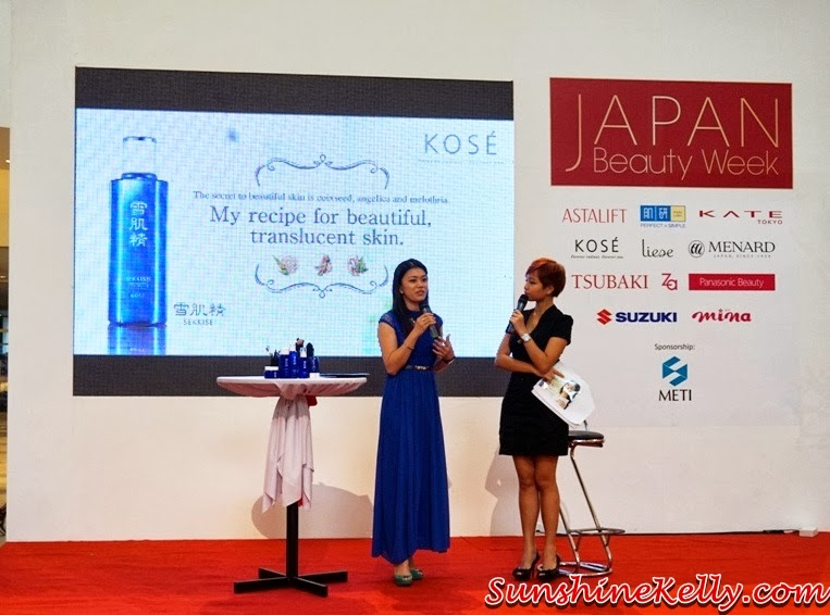 Kose, Kose Sekkisei, Kose Sekkisei Beauty Sharing with Mr Dobashi, Kose Japan, Sekkisei Lotion Mask, Beauty sharing, makeup, skincare, on stage, sharing session