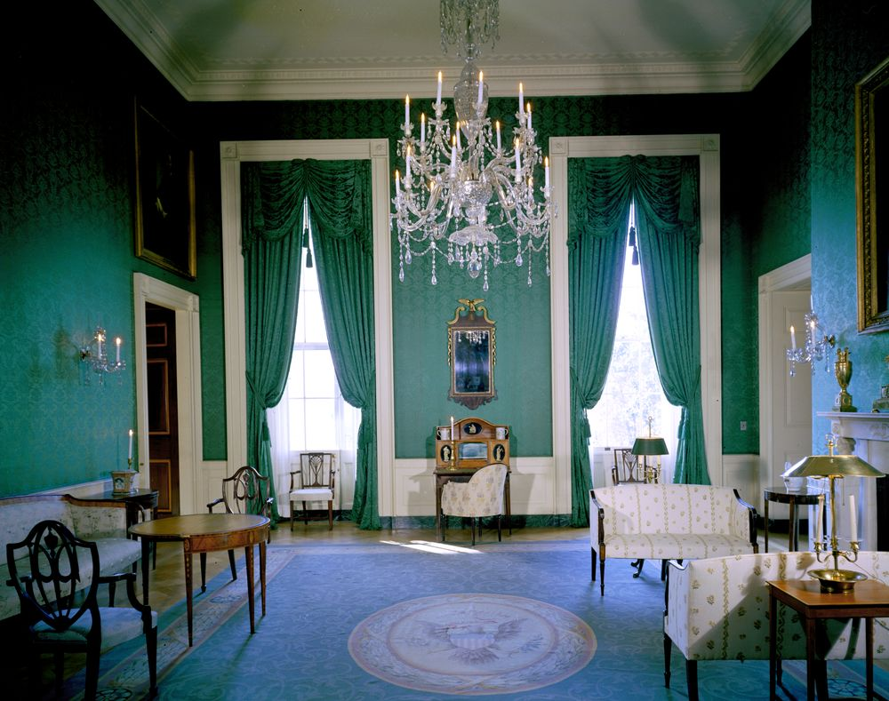 The Devoted Classicist: Jacqueline Kennedy\'s Green Room