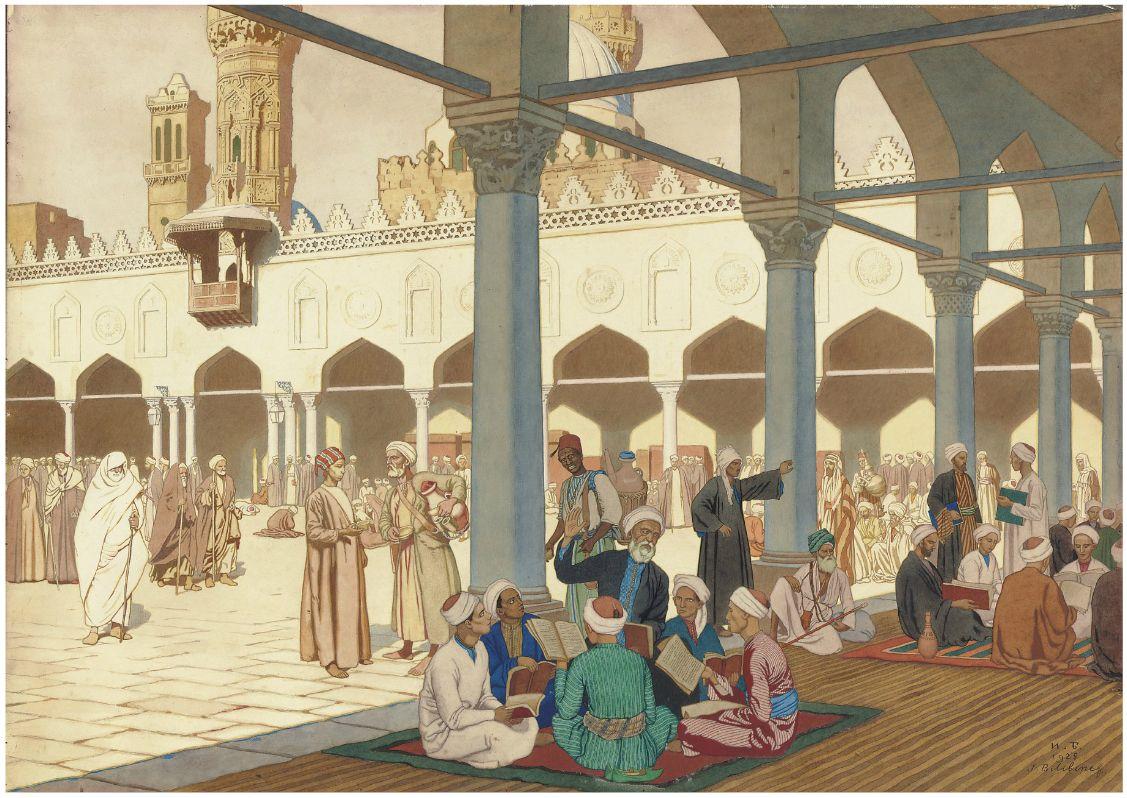 http://3.bp.blogspot.com/-cSks0hji7TA/TqaItG4wW9I/AAAAAAAAhAo/31Xx3UFf-uo/s1600/1Ivan+Iakovlevich+Bilibin+%25281876-1942%2529.Courtyard+of+the+Al-Azhar+Mosque+and+University+Complex%252C+Cairo.Pencil+and+watercolor+and+gouache+on+artist%2527s+board+.55.2+x+76+cm.+1928+.jpg