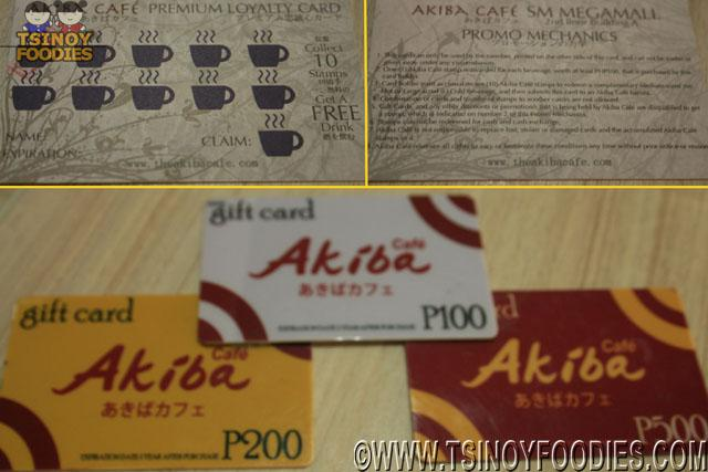 akiba loyalty card and gift card