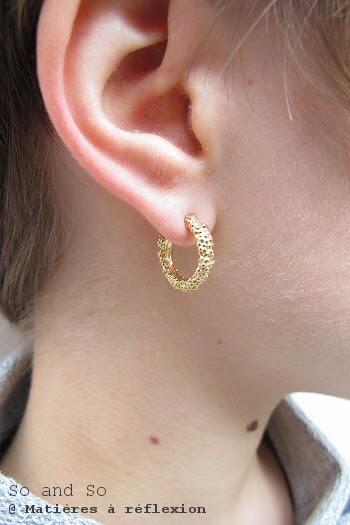 Boucles d'oreilles vermeil créoles So and So