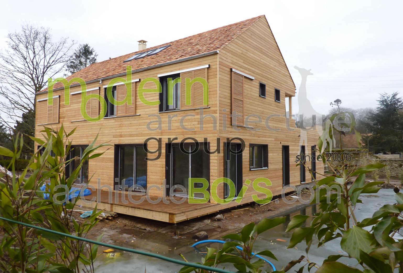 La maison bois contemporaine for Architecte maison bois contemporaine