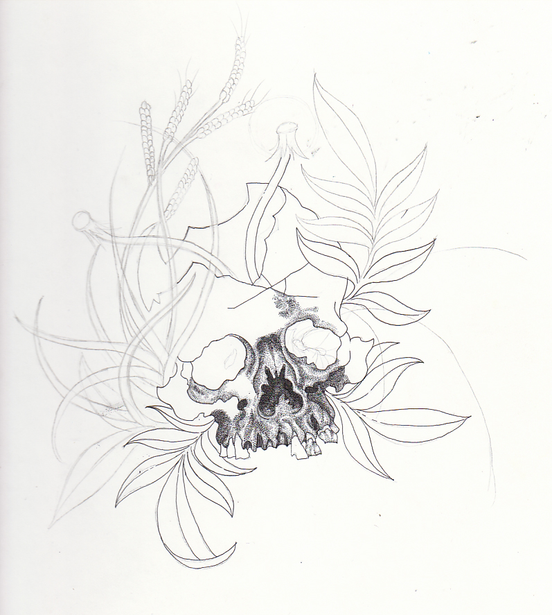 Weed Pencil Drawing New Drawings More Skulls And Pictures