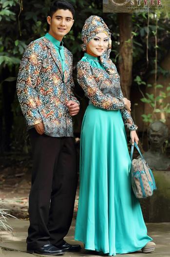 Contoh Model Baju Batik Pria Muslim Kerah Sanghai