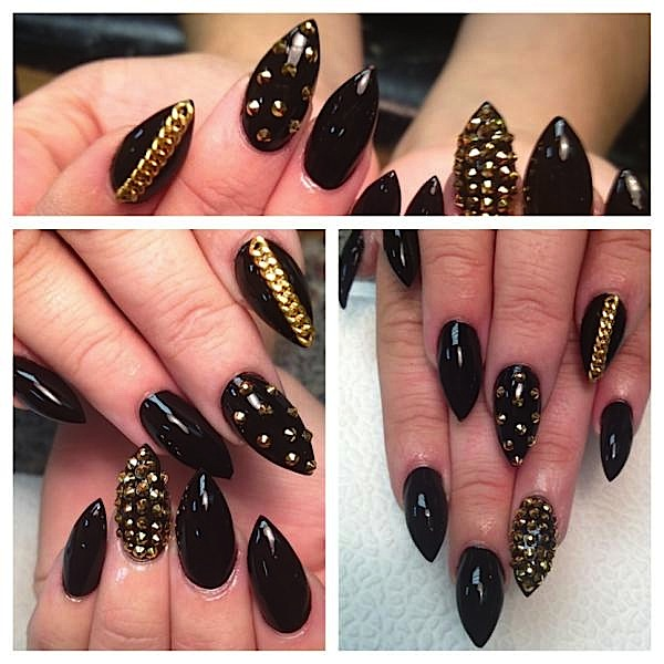 The Exciting Black and white leopard print nail designs Image
